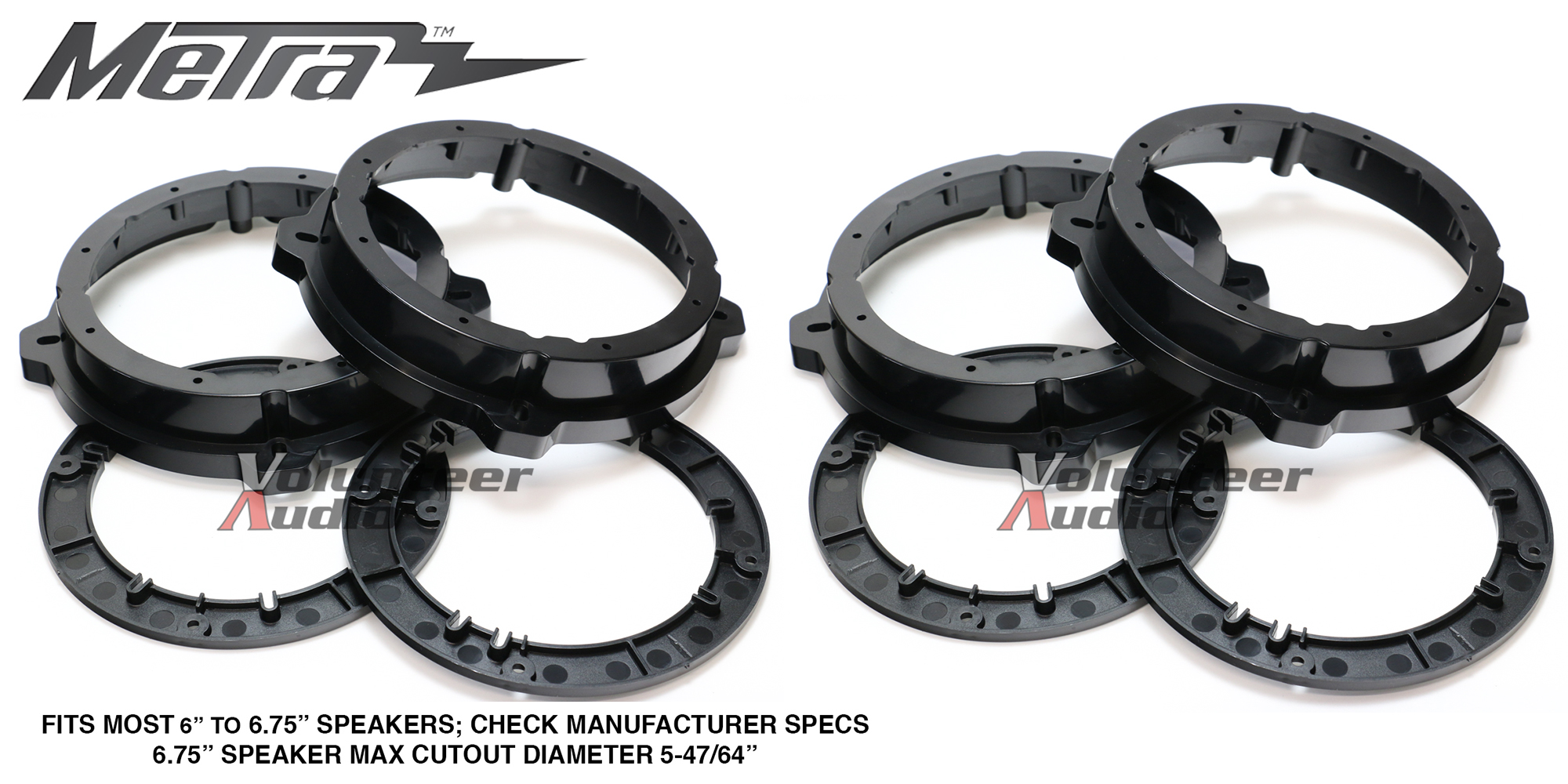 """Details about (10) Sets Metra 810-73010 10""""- 10.10"""" Front & Rear Speaker  Adapters For Hyundai / Kia"""