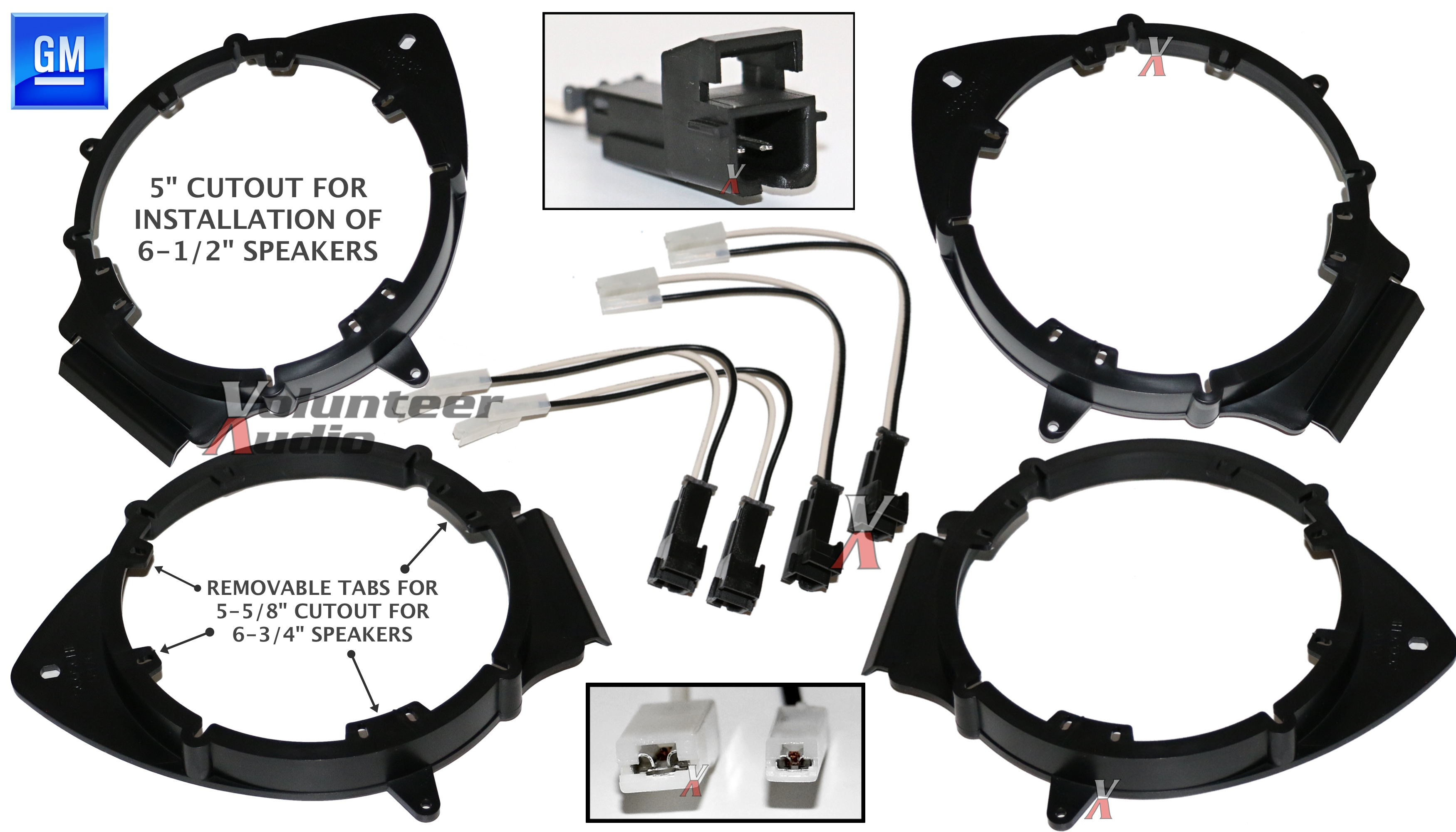 Gm Speaker Wiring Harness Guide And Troubleshooting Of Scosche 2 Pair Bkgmsb356 Shgm03b 6 5 Or 75 Chevrolet Adapters Rh Ebay Com Connectors Radio