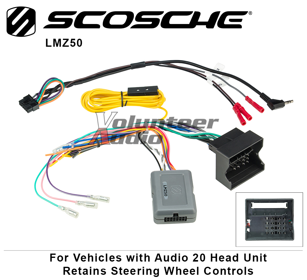 Scosche Lmz50 Link Interface With Data Bus And Steering Wheel Wiring Harness Links