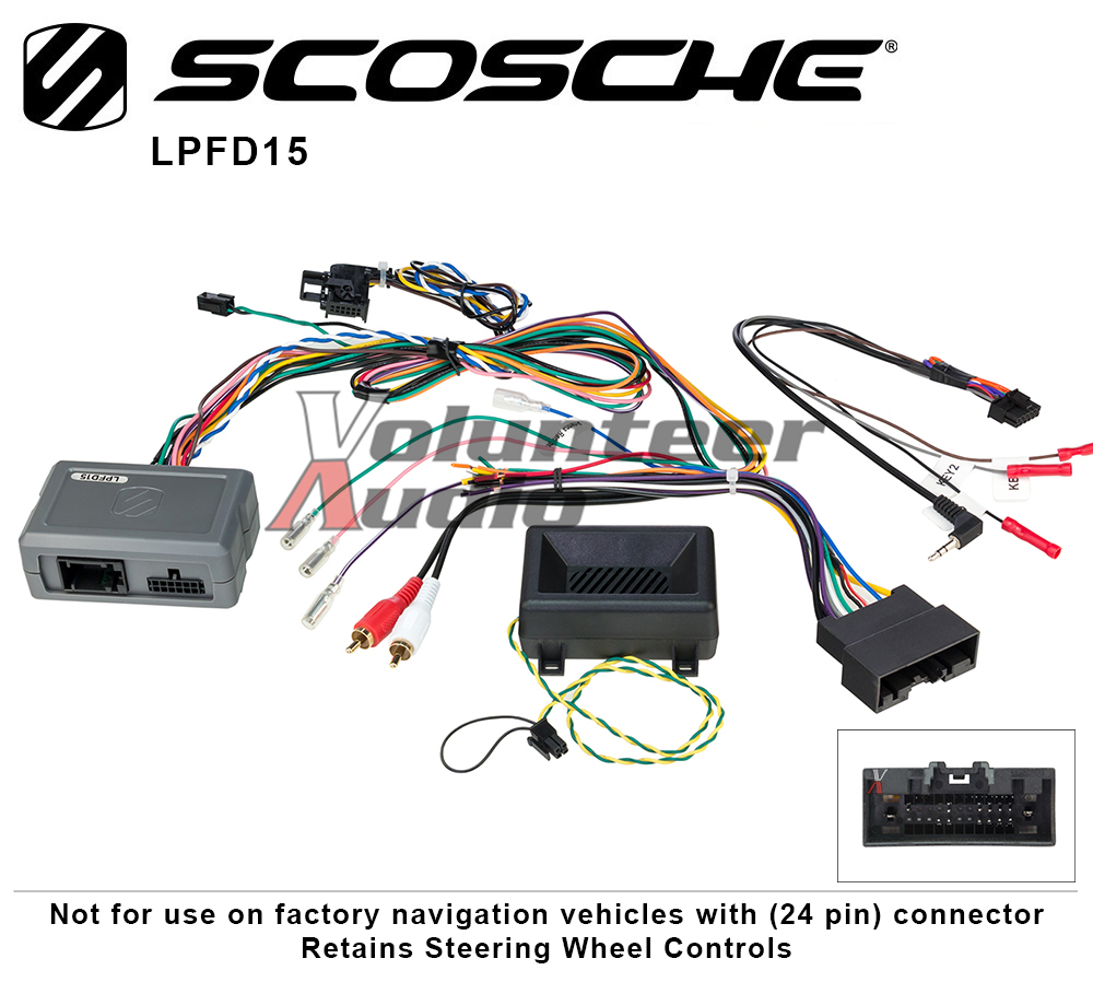 Scosche Lpfd15 Link Interface With Swc And Oem Park Sensor Wiring Harness For Ford Links