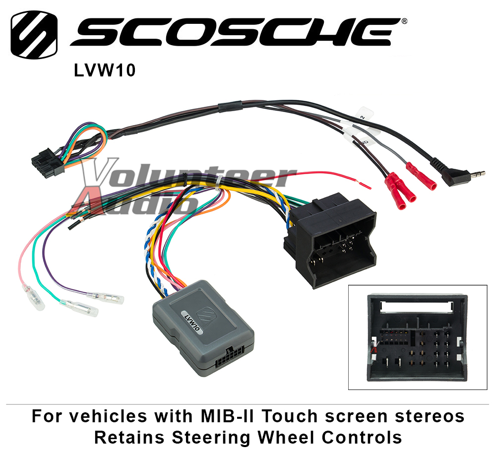 Details about Scosche LVW10 Link Interface with Data bus and Steering wheel  control Retention