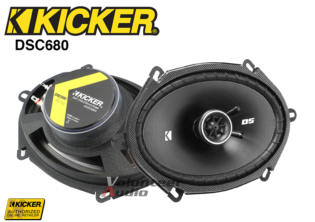 """Kicker DS Series 1 Set DSC4 4/"""" 4-Ohm 30 Watt Rms Co-Axial Speaker"""