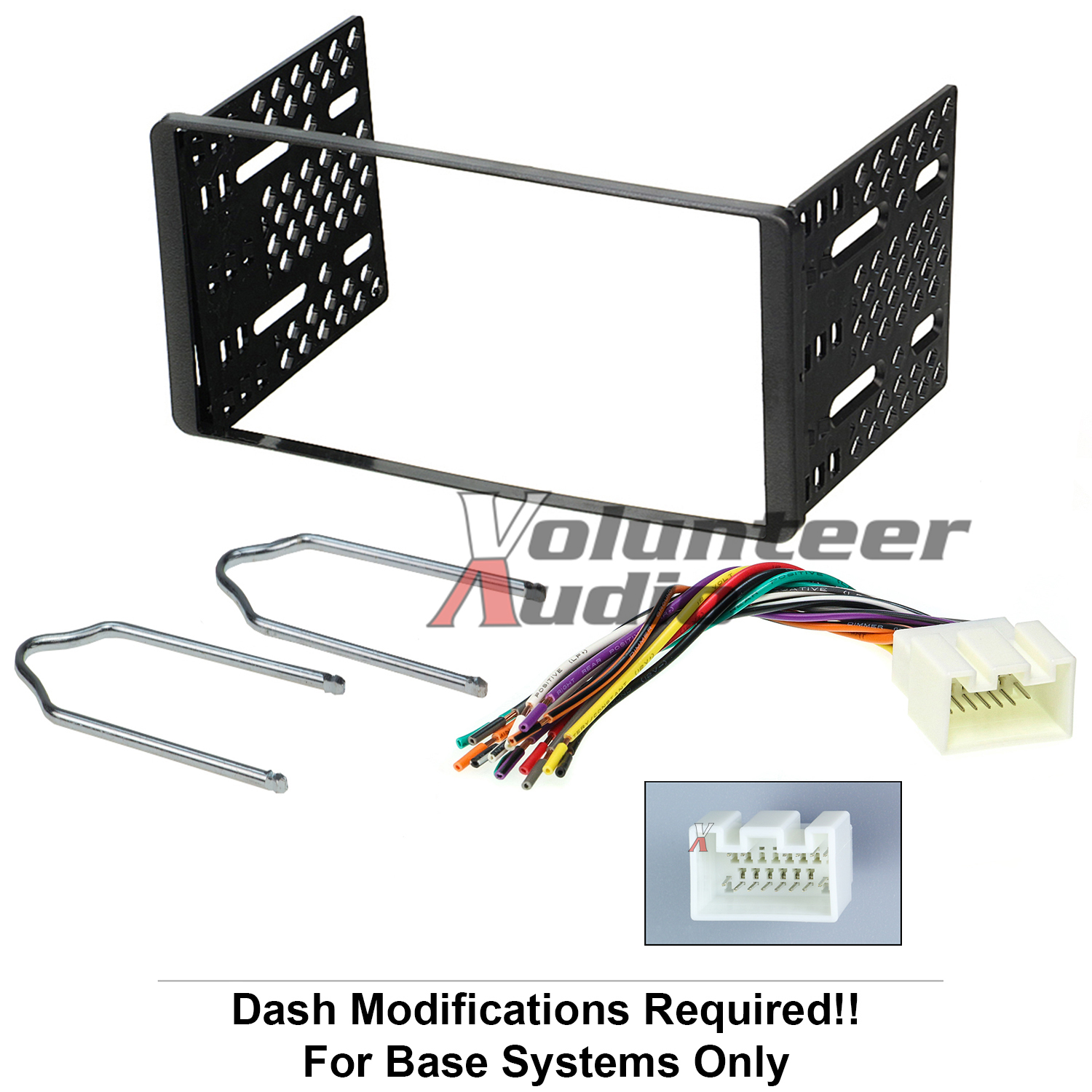 1998 2011 Double Din Radio Mount Kit For Stereo Cd Player Install W Car Wiring Harness 1 Trim Bezel Installation Dash Links