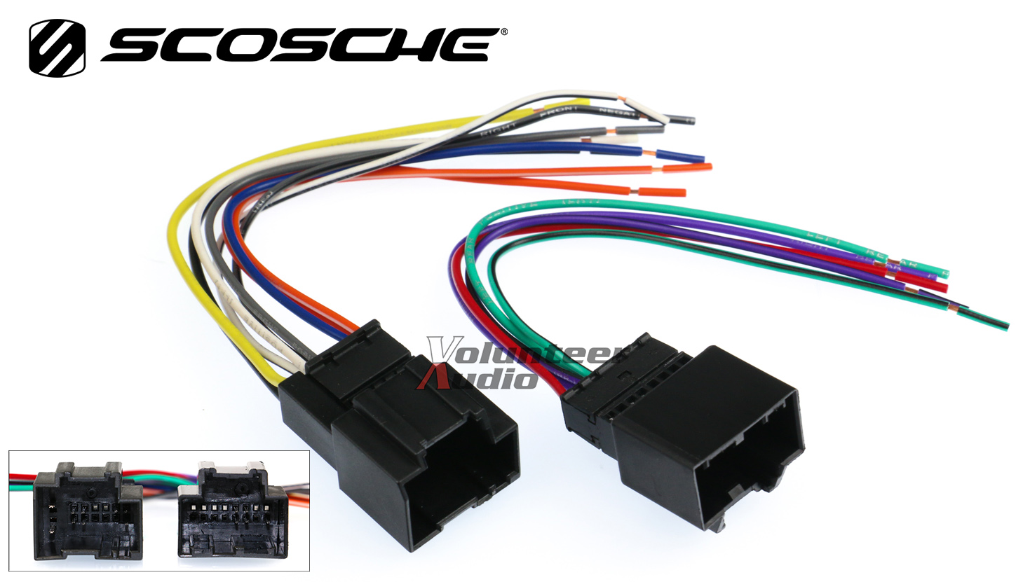 chevy aveo car stereo cd player wiring harness wire aftermarket rh ebay com  scosche car stereo amplifier wiring kit