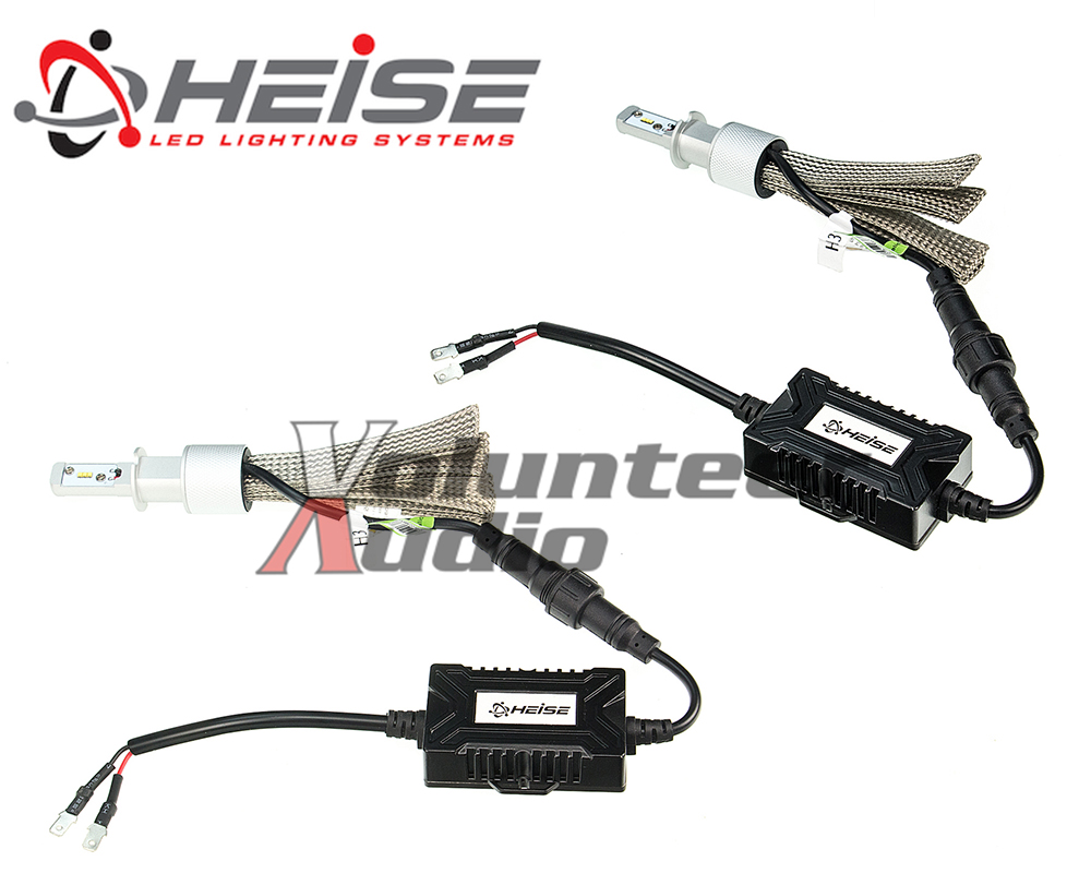 Pair Heise HE-H1LED H1 Replacement LED Headlight Kit