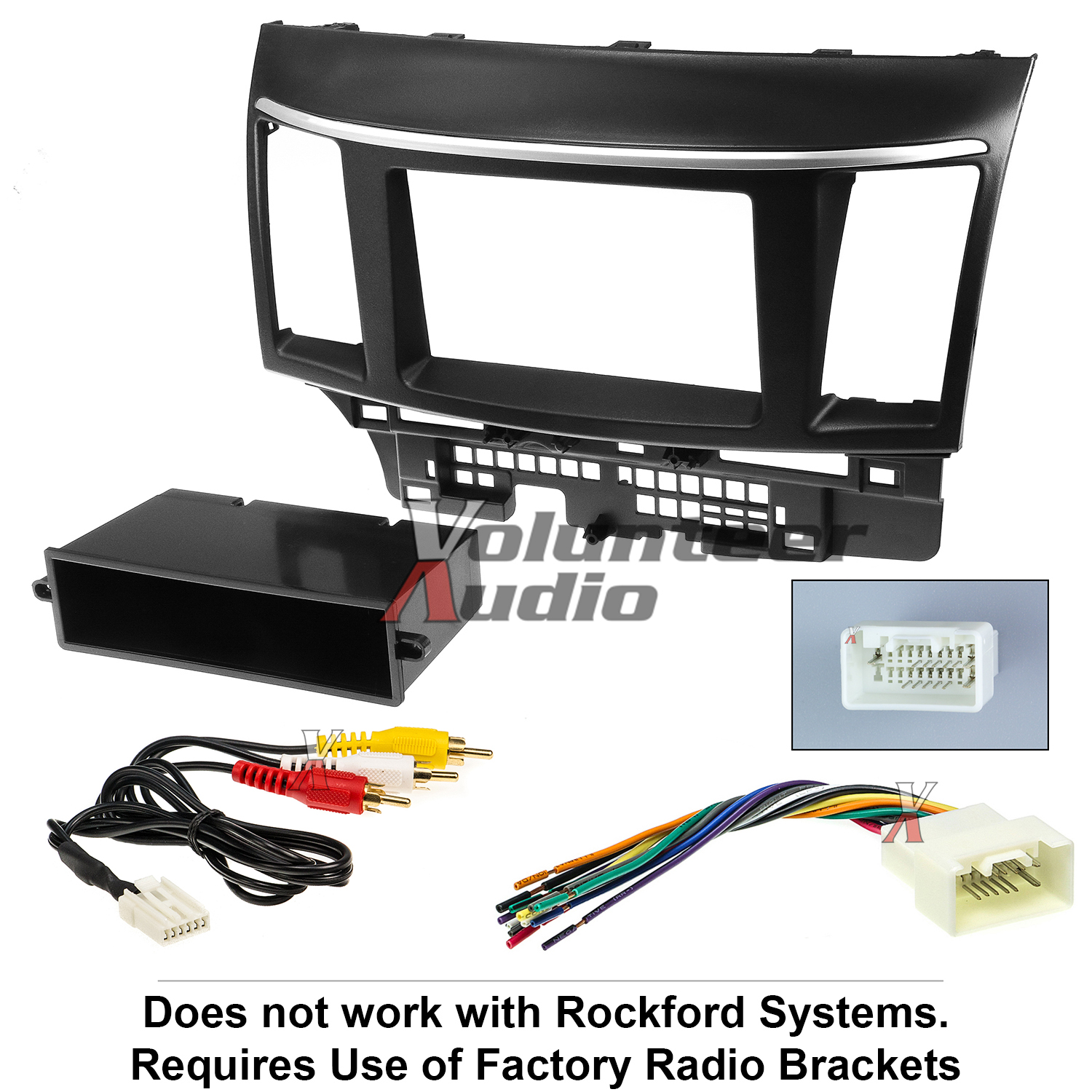 99-7011 Double-Din Radio Install Dash Kit w// Wires for Lancer Car Stereo Mount