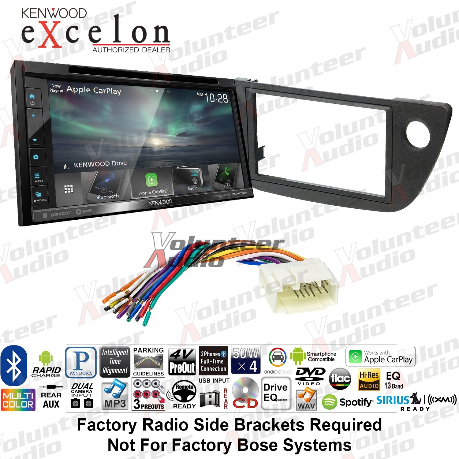 Details about Kenwood DDX6706S Double Din Car Stereo Radio Dash Install Kit