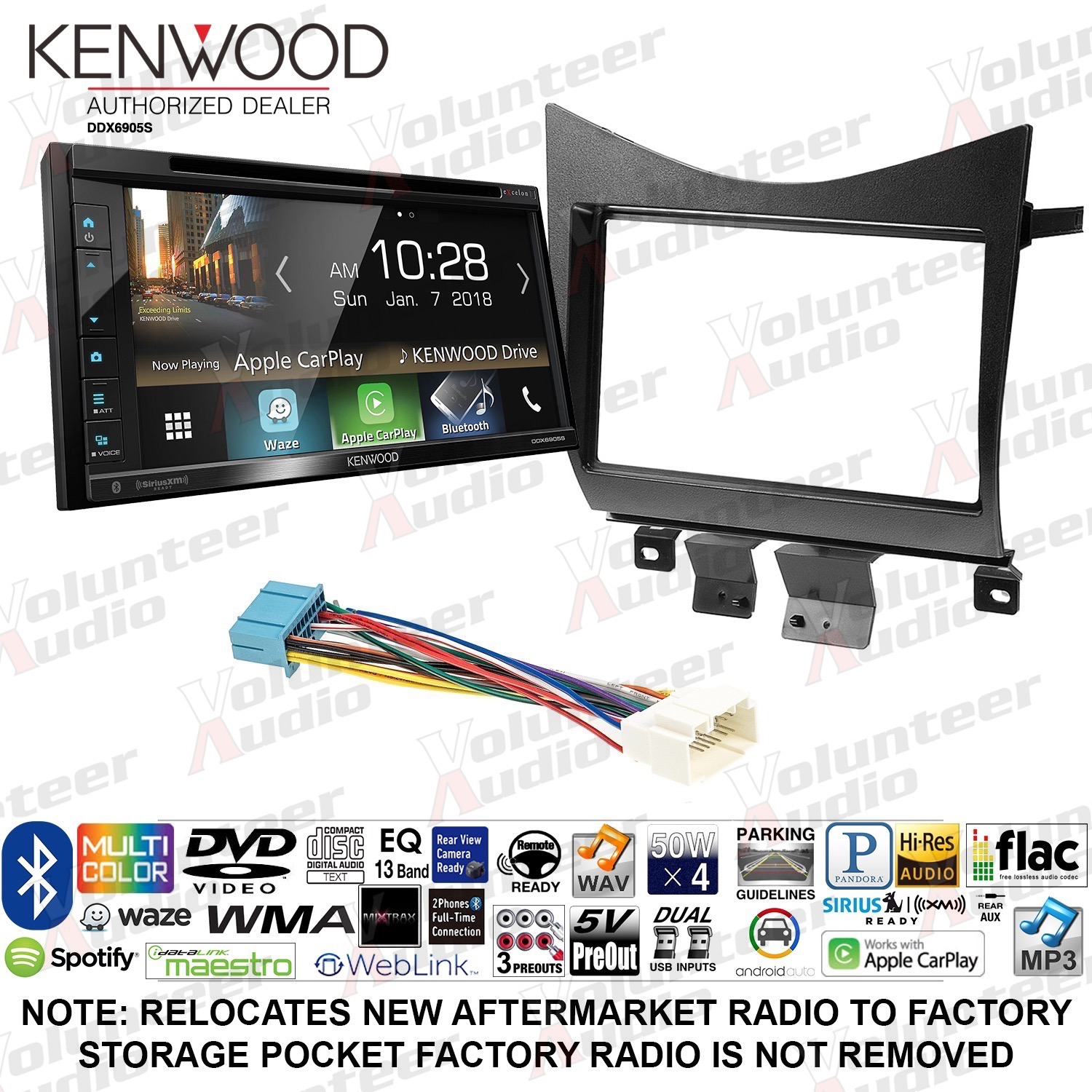 COLOR REAR VIEW CAMERA W// ACTIVE GUIDELINES FOR KENWOOD DDX-6902S DDX6902S